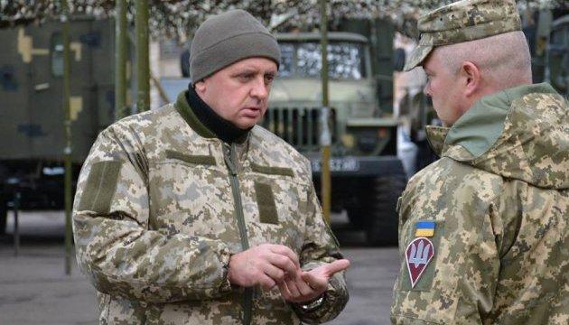 Муженко проверил воинские части в зоне АТО