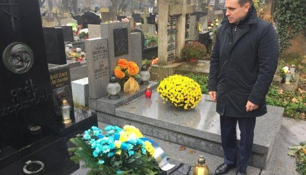 Елисеев в Кракове возложил цветы на могилу Богдана Лепкого