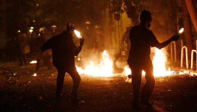 Демонстранты устроили беспорядки в Греции