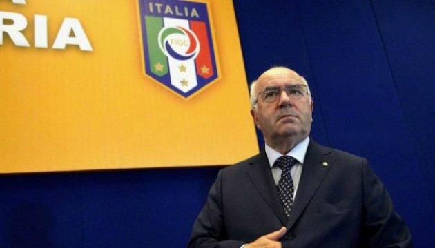 Президент Федерації футболу Італії пішов у відставку