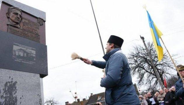 Во Львове открыли памятный знак на месте