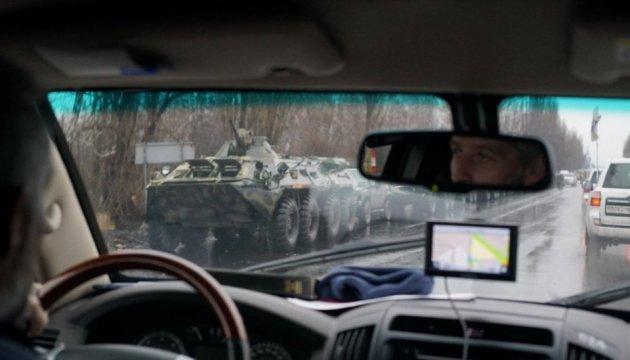 ОБСЄ показала колону броньованої техніки, що увійшла до окупованого Луганська