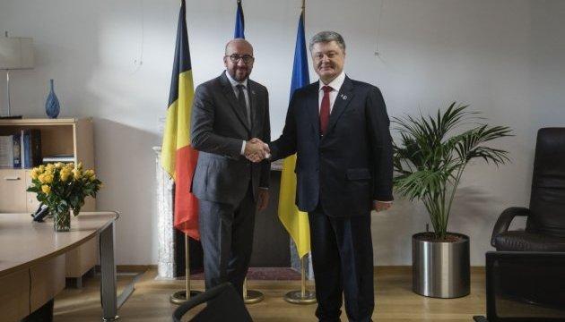 Премьер Бельгии заверил Порошенко в солидарности с Украиной
