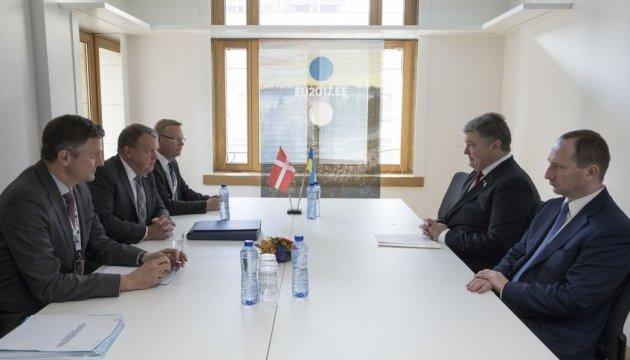 Порошенко обговорив з прем'єром Данії мандат миротворців ООН на Донбасі