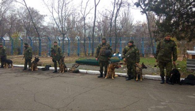 На службу в зоне АТО заступили розыскные псы-новобранцы