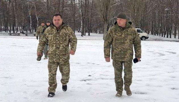 Полторак обсудил с руководством штаба АТО ситуацию на линии соприкосновения