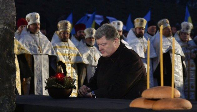 Порошенко подякував діаспорі за допомогу у визнанні Голодомору геноцидом