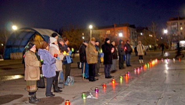 У Слов'янську в пам'ять про жертв Голодомору запалили свічки