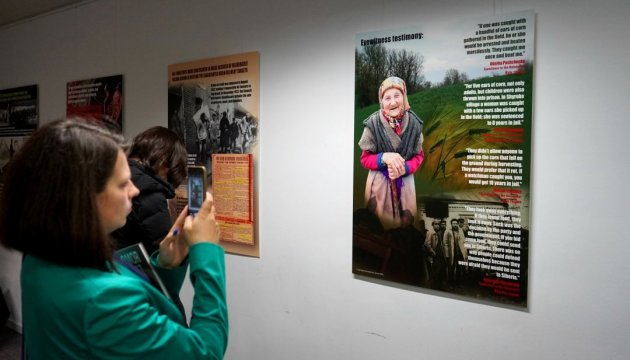 Executed by hunger: Photo exhibition about genocide of Ukrainians opens in Brussels