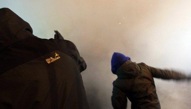 Под МВД - столкновения между участниками шествия и полицией, двое задержанных