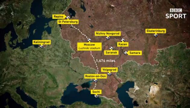ЧМ-2018: В анонсе городов чемпионата ВВС изобразил Крым российским