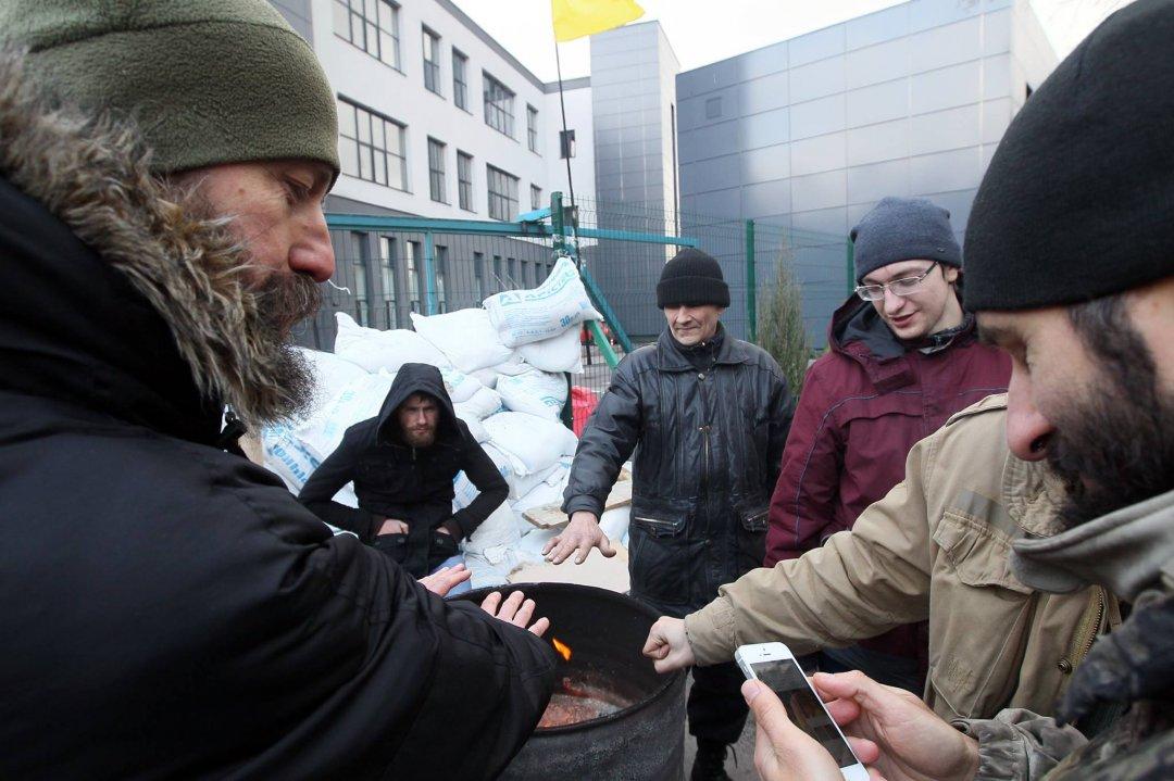 Організатори акції пікету телеканалу NewsOne, члени руху