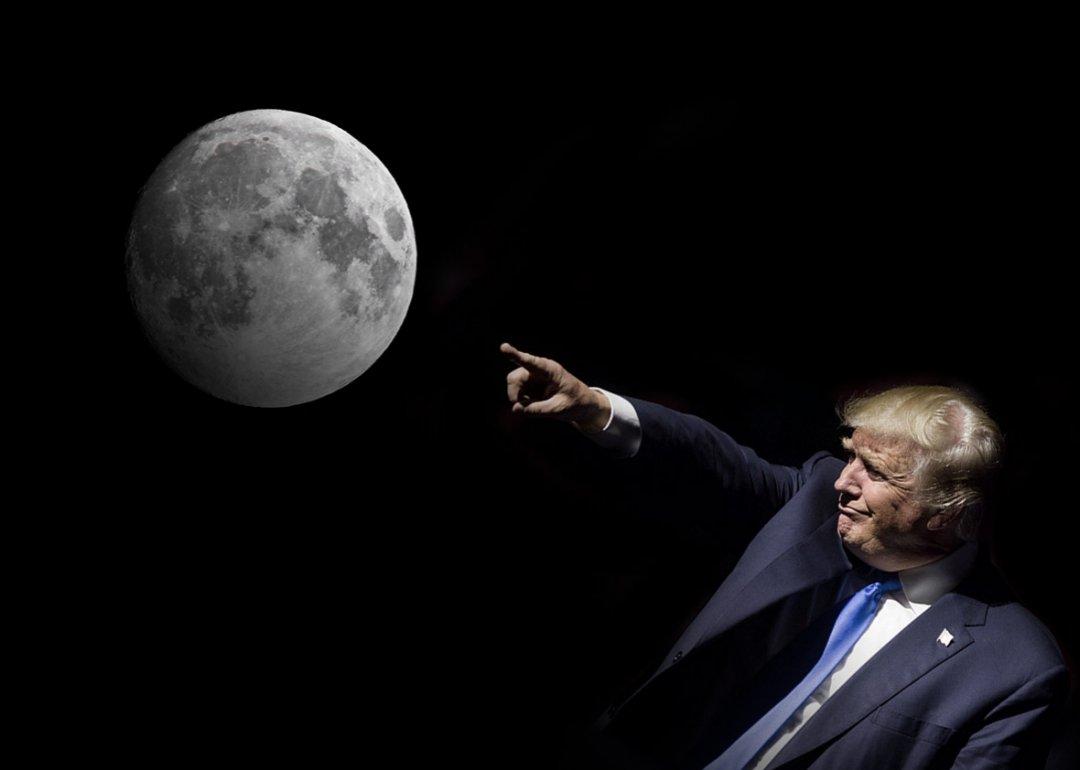 Місяць - це основа для майбутньої місії на Марс // Фото: Voice Of People Today