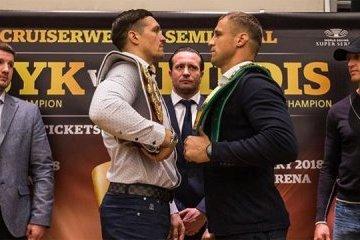 Boxen: Usyk und Briedis tauschen Blicke