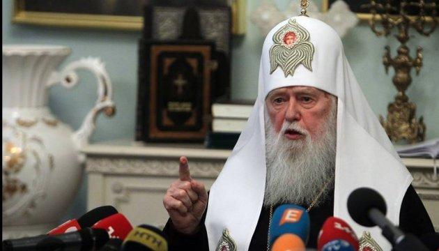 Філарет привітав Сущенка: Ви страждаєте за правду, а де правда, там Бог
