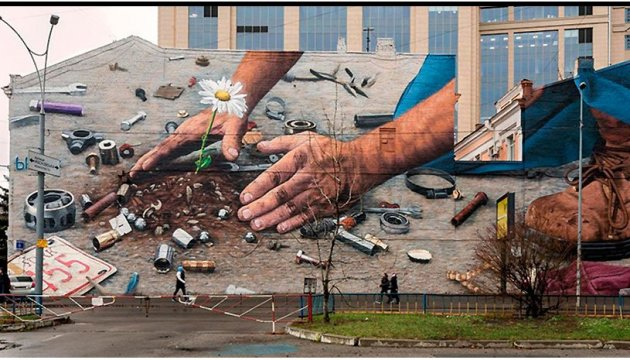 Mural in Kyiv among world's best of last month