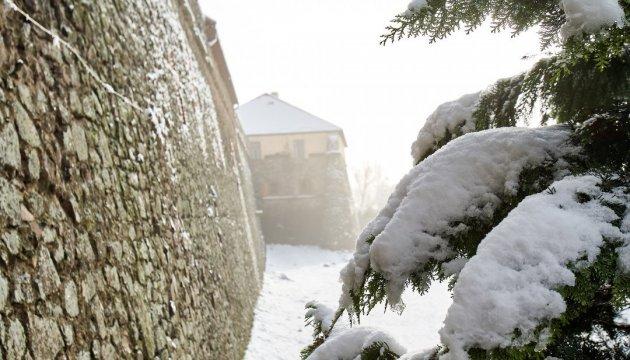 Фотограф показав зимову красу Ужгородського замку