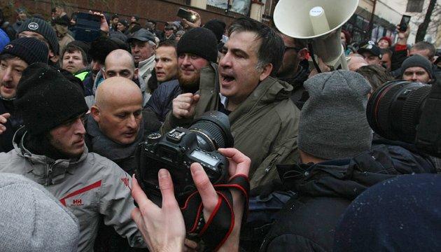 Поліція: Під час затримання Саакашвілі ніхто не постраждав