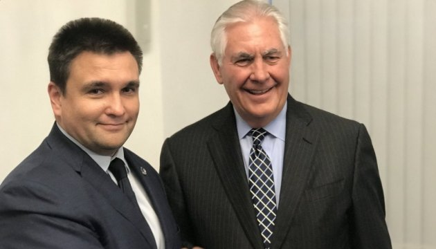 Klimkin, Tillerson discuss UN peacekeepers in Donbas