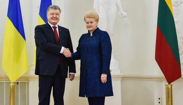 Порошенко запросив литовський бізнес інвестувати в українську економіку