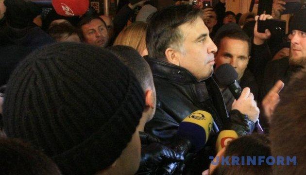 Саакашвілі повернувся у квартиру на Костьольній