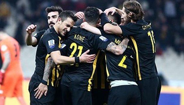 АЕК очолив турнірну таблицю футбольного чемпіонату Греції