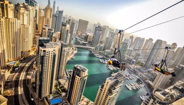 Туристи у Дубаї можуть полоскотати нерви на рекордному зіплайні