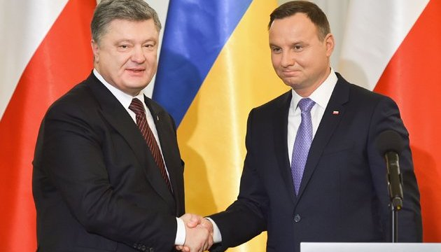 Poroshenko meets with Duda in Brussels