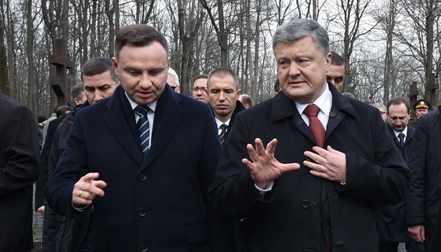 Poroshenko, Duda discuss idea of peacekeepers in Donbas