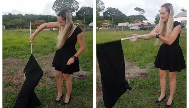 Гламурна українка в Австралії спіймала 2,5-метрову змію