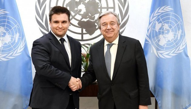 Klimkin, UN Secretary General discuss deployment of UN peacekeepers in Donbas
