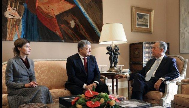 Petro Porochenko a rencontré le président portugais à Lisbonne