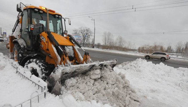 L'Ukraine sous la neigé: la couche de neige atteint 20 cm