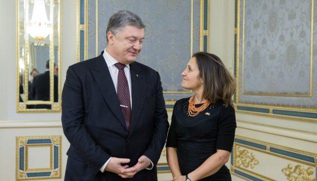 Порошенко і Фріланд обговорили наміри РФ підірвати Мінський процес