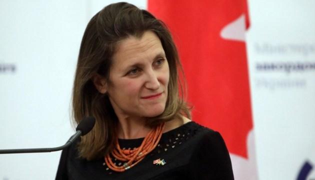 La ministra de Asuntos Exteriores de Canadá visitará Ucrania la semana siguiente