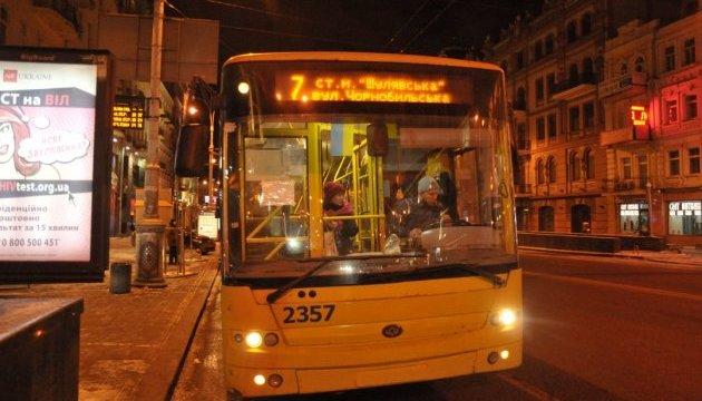 У Києві в ніч проти 27 червня не діятиме один із маршрутів нічних тролейбусів