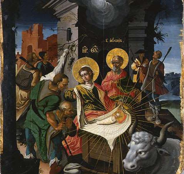 Ікона Різдво Христове, 1729 р., з іконостасу Успенського собору Києво-Печерської Лаври