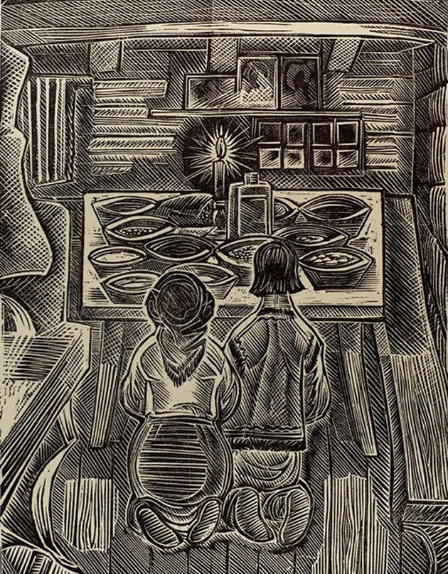 """Георгій Якутович, """"Під Різдво"""", 1965 р."""