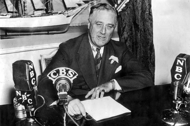 Франклін Рузвельт. Радіозвернення з Білого дому