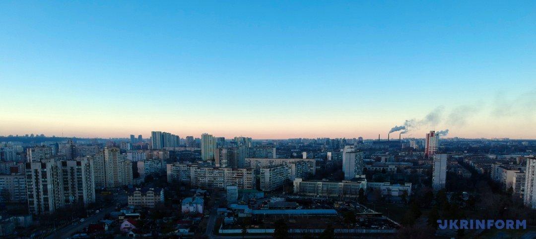 Панорама Дарницкого района столицы