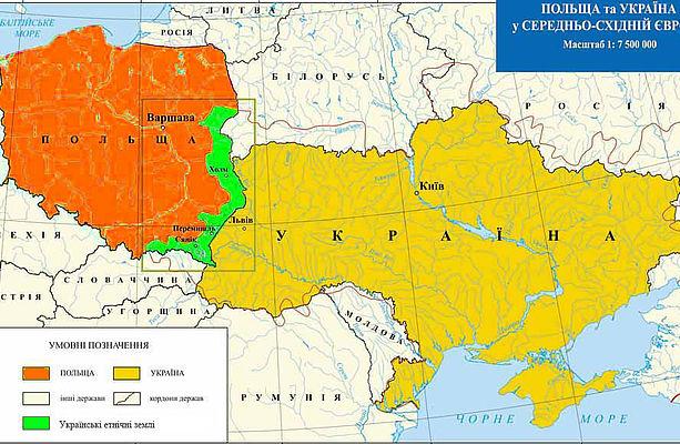 Трагедія українців Закерзоння. Карта