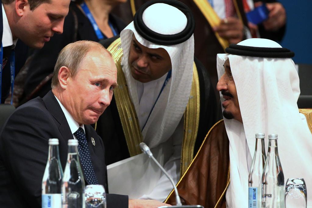 Президент РФ Володимир Путін і король Саудівської Аравії Салман ібн Абдул-Азіз Аль Сауд