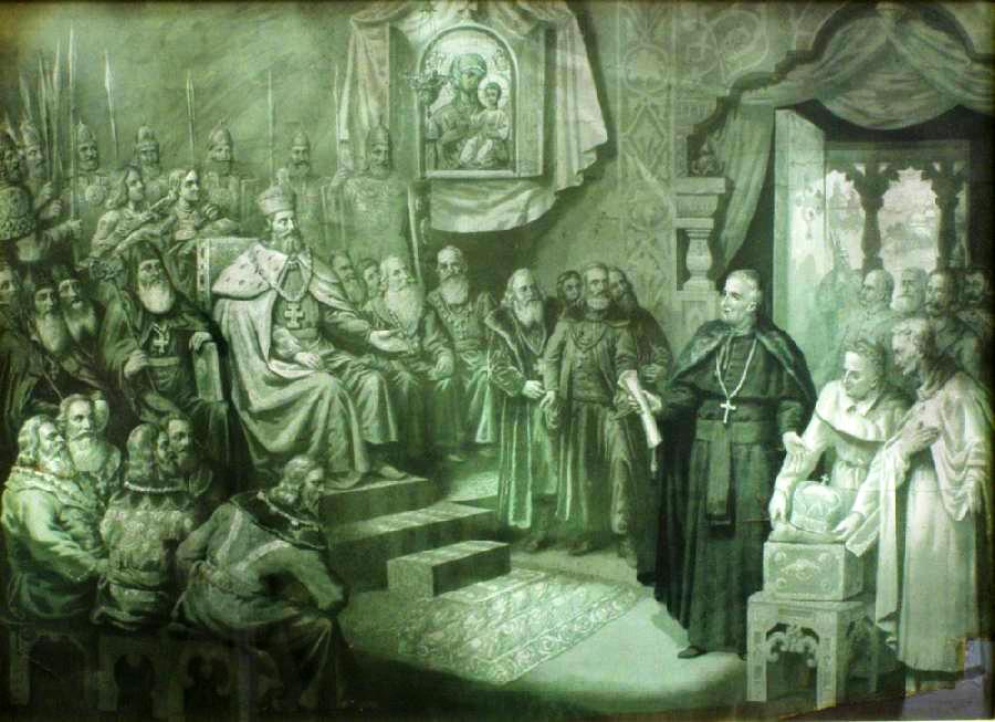 Коронація Данила Галицького 1253 року Папою Римським Інокентієм IV на короля Соборної України