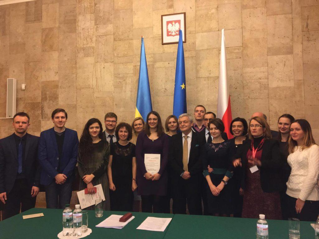 Переможці конкурсу імені Гедройця у Посольстві Польщі