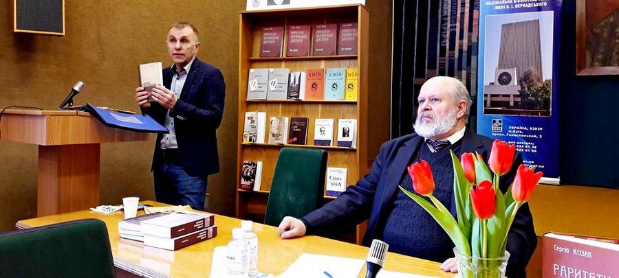 На фото (зліва направо) Сергій Козак і Володимир Попик