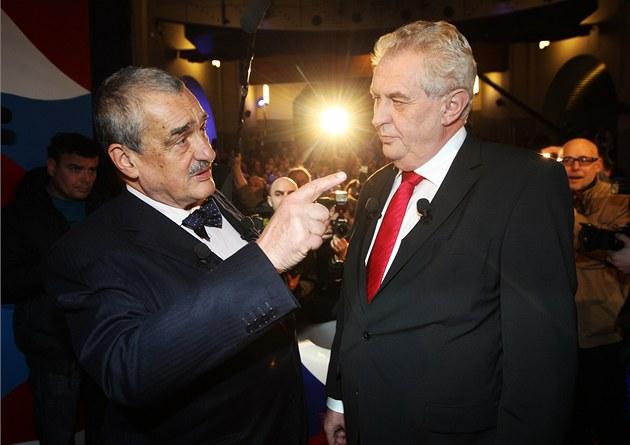 Карел Шварценберг (ліворуч) та Мілош Земан