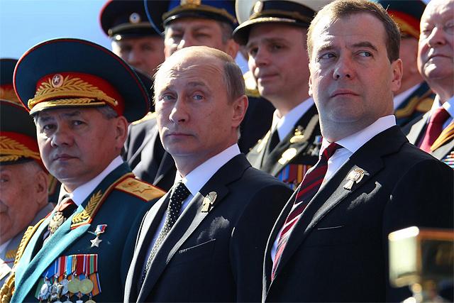 Шойгу, Путін, Медведєв