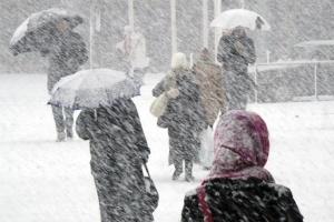 На Україну чекають сніг, дощ, ожеледиця та сильний вітер