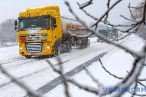 Киев закроют для грузовиков из-за снегопада