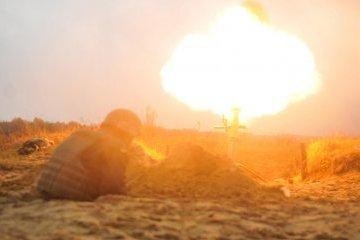 顿巴斯:占领军使用迫击炮射击,一天内开火十次